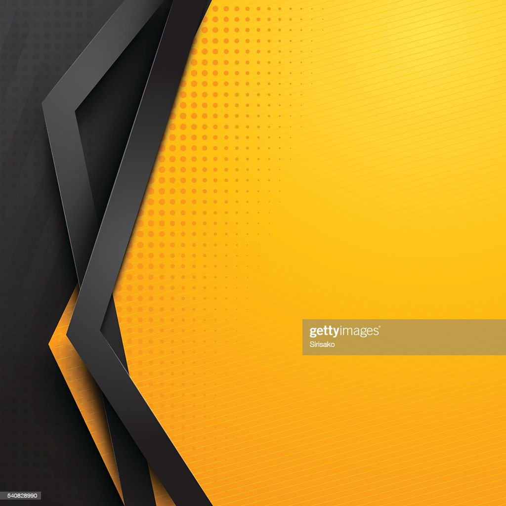 background design  yellow and black
