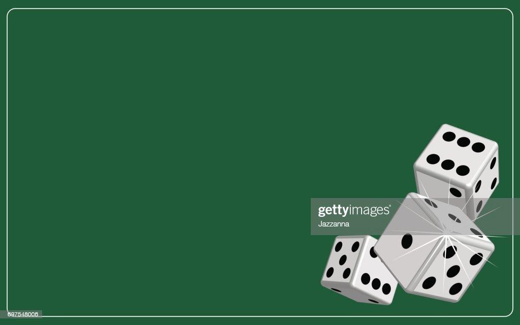 Background dice gambling green