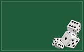 Background dice gambling green
