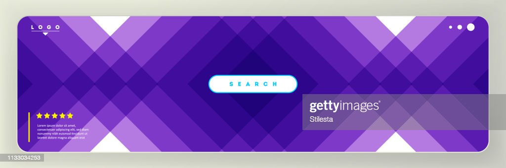 Background for web design trendy geometry in purple colors