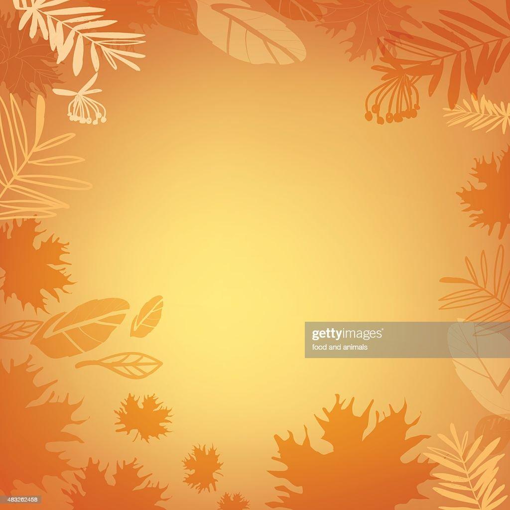 Background gold autumn