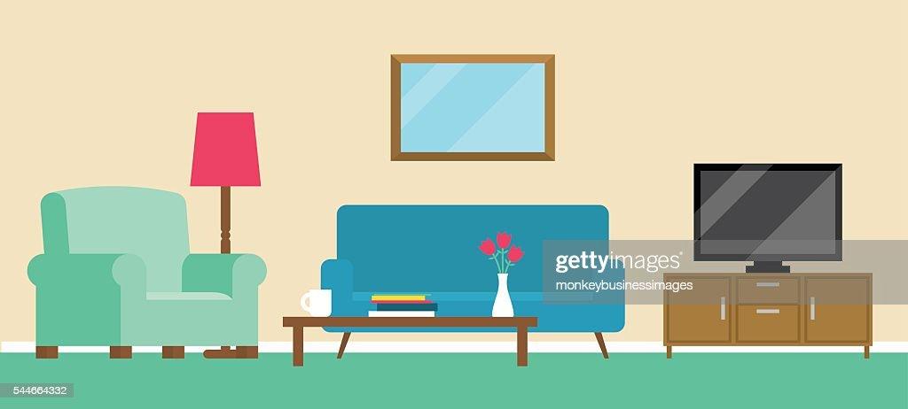 Background Illustration Of Living Room