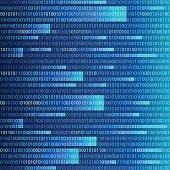 Background in a matrix style. Falling random numbers. Web Developer