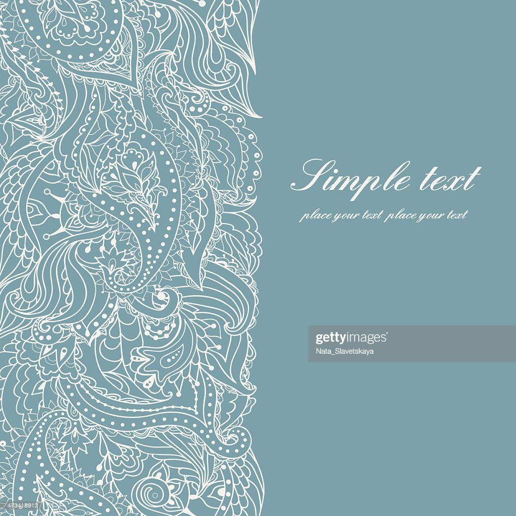 Background invitation with lace