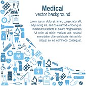 Background medical icons and sign