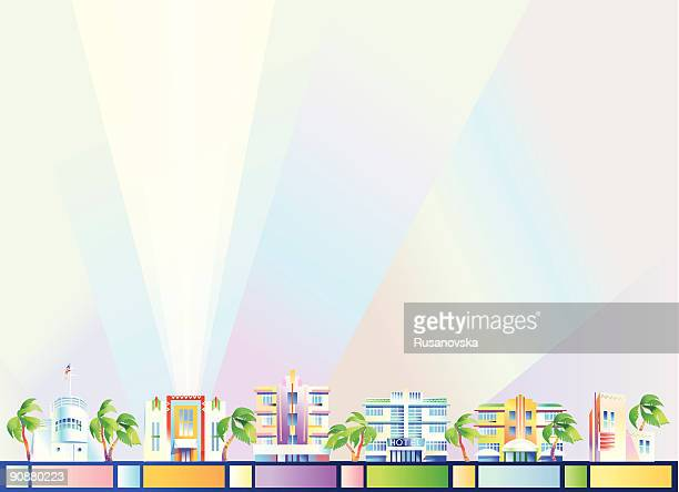 background - miami - south beach stock illustrations