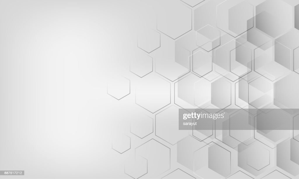 Background modern hexagon grey white halftone modern art vector eps10 Technology business style