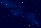 Background of a clear starry sky