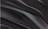 Background of black fabric