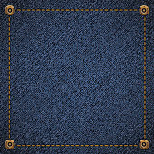 Background of blue denim fabric