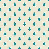 background of blue rain drops