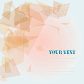 Background of geometric shapes with a goal under the text.
