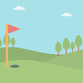 Background of golf field