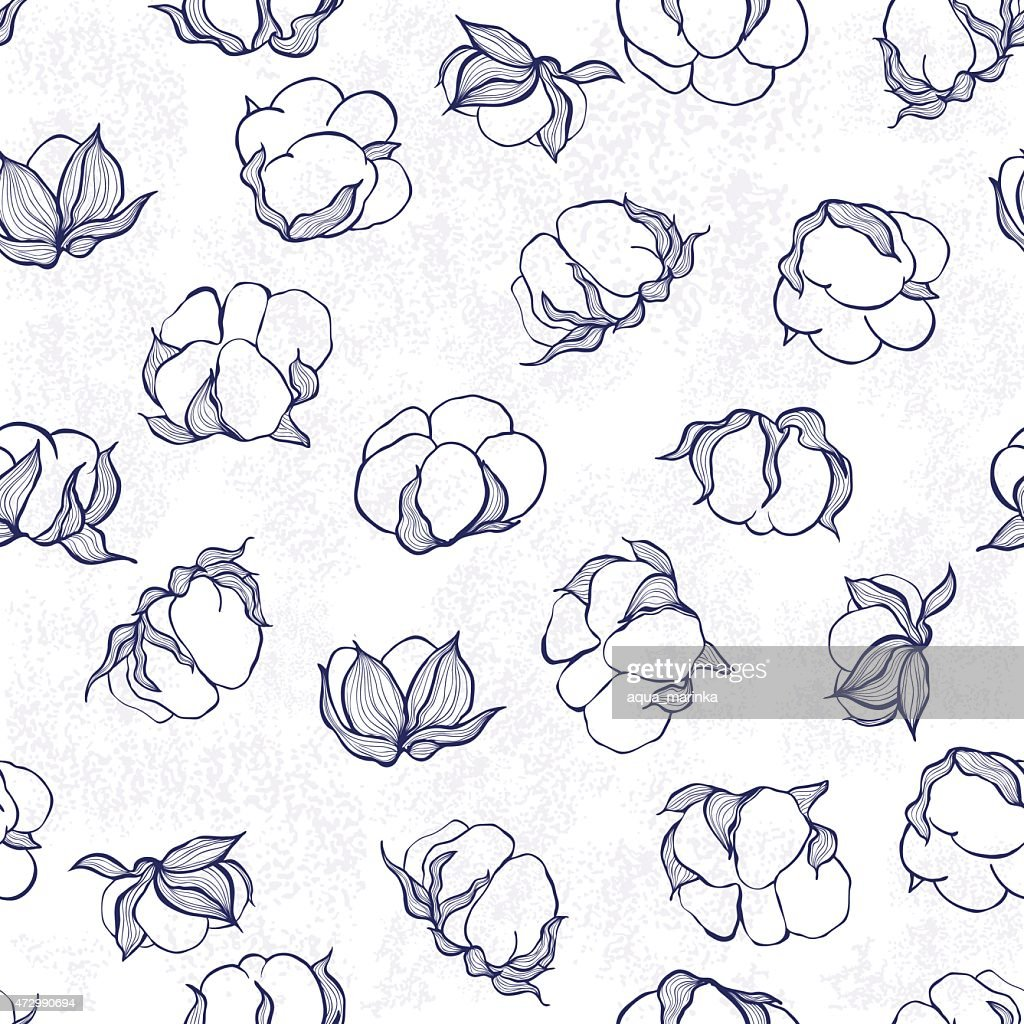 Background of ink drawn cotton