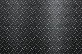 Background of Metal Diamond Plate in Black Color
