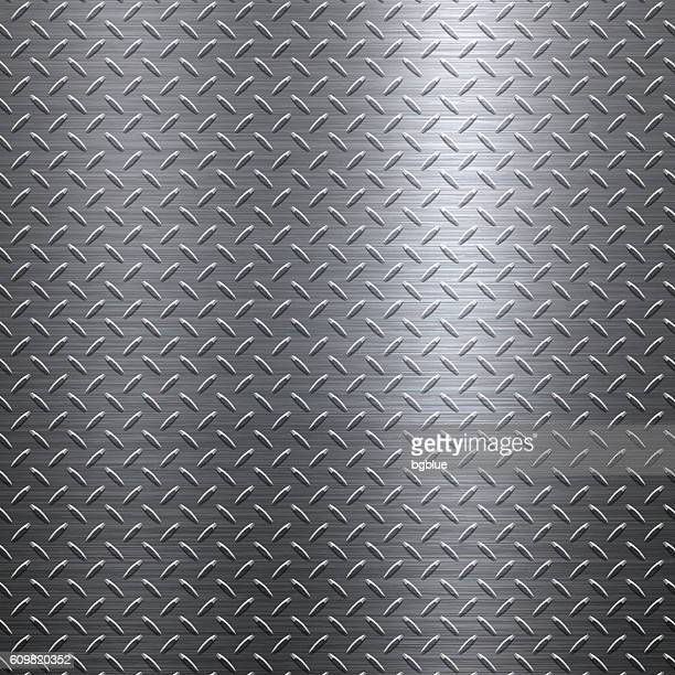 background of metal diamond plate in silver color - steel stock illustrations