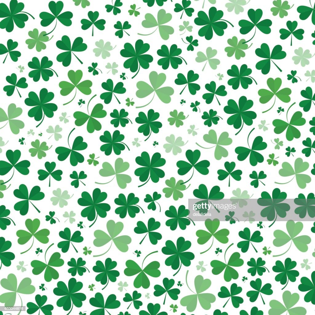 Background of petals of green clover