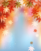 background of red leaves
