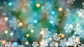 Background of snowflakes