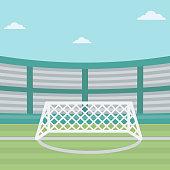 Background of soccer stadium