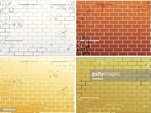 background paredes grunge - modern rock stock illustrations