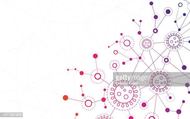 ilustrações, clipart, desenhos animados e ícones de vírus de partículas de fundo - infectious disease