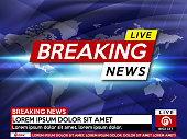 Background screen saver on breaking news.