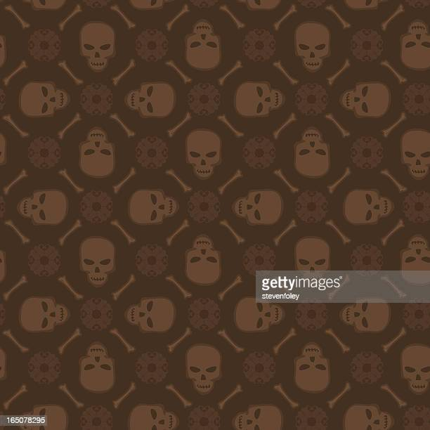 background - skulls (seamless) - terminal illness stock illustrations, clip art, cartoons, & icons