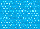Background Social Media Icon Pattern