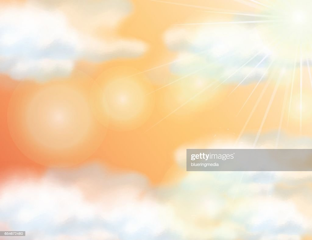 Background Template With Orange Sky Clipart Vectoriel Getty Images