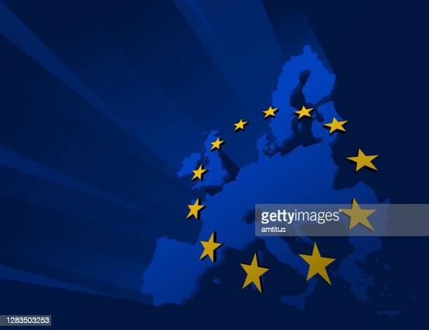 eu-hintergrund - europa kontinent stock-grafiken, -clipart, -cartoons und -symbole
