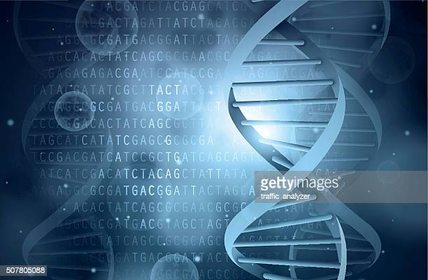 dna background - micro organism stock illustrations, clip art, cartoons, & icons
