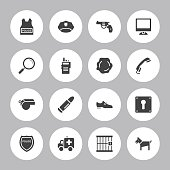 Background Vector Police Icons - 16 Icons