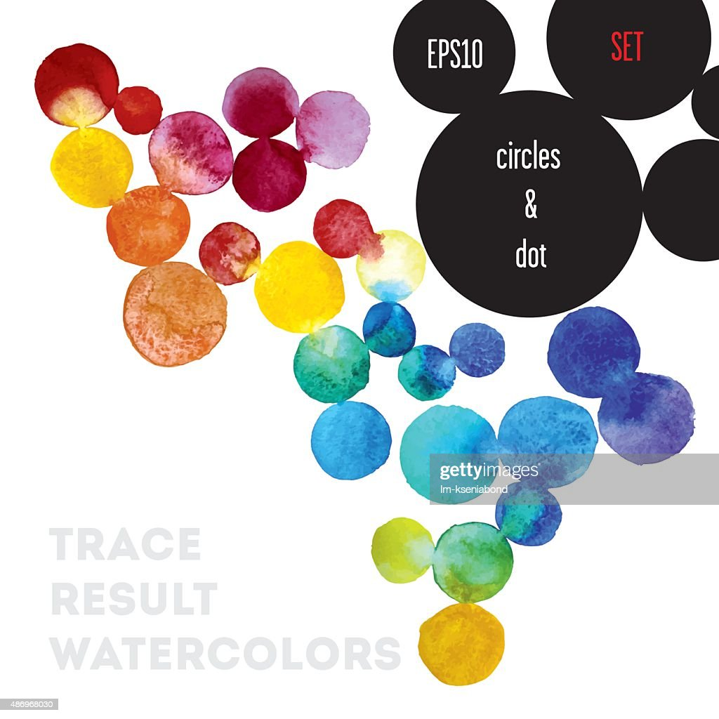 background watercolor circles