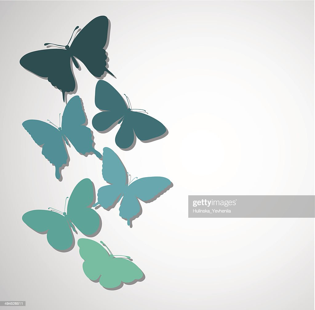 background with a border of butterflies flying.