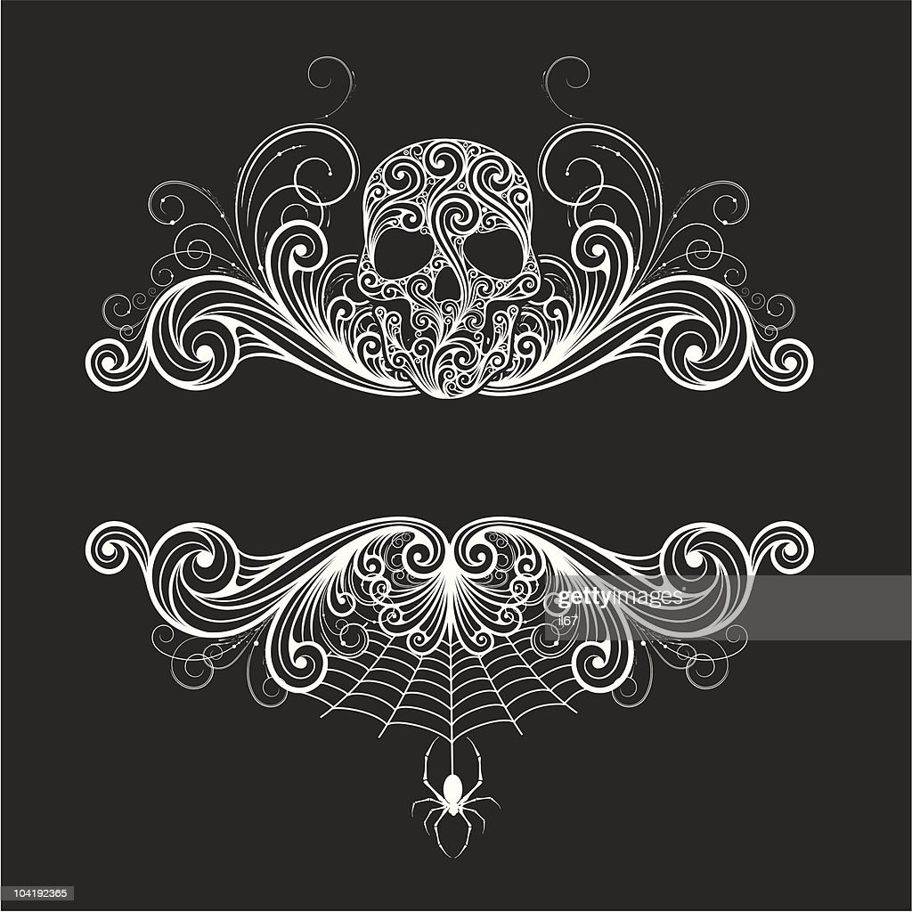 Background  with a decorative skull