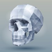 background with a geometrical skull