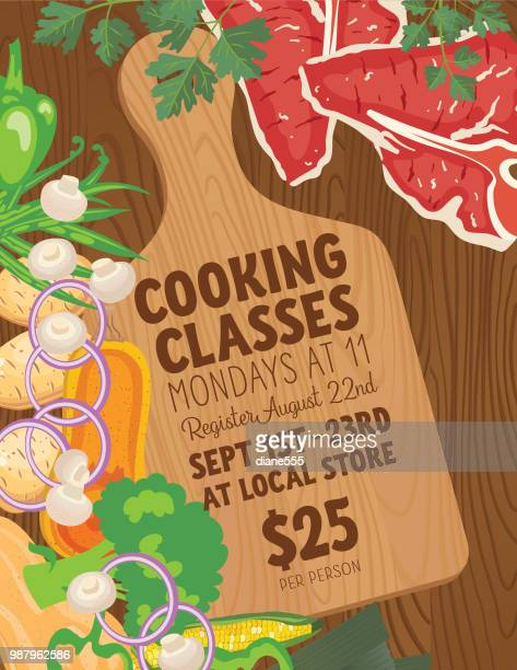 background with assorted foods - cooking concept - cooking utensil stock illustrations, clip art, cartoons, & icons