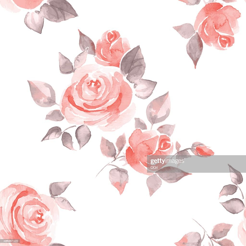 Background with beautiful roses. Seamles pattern vector 11