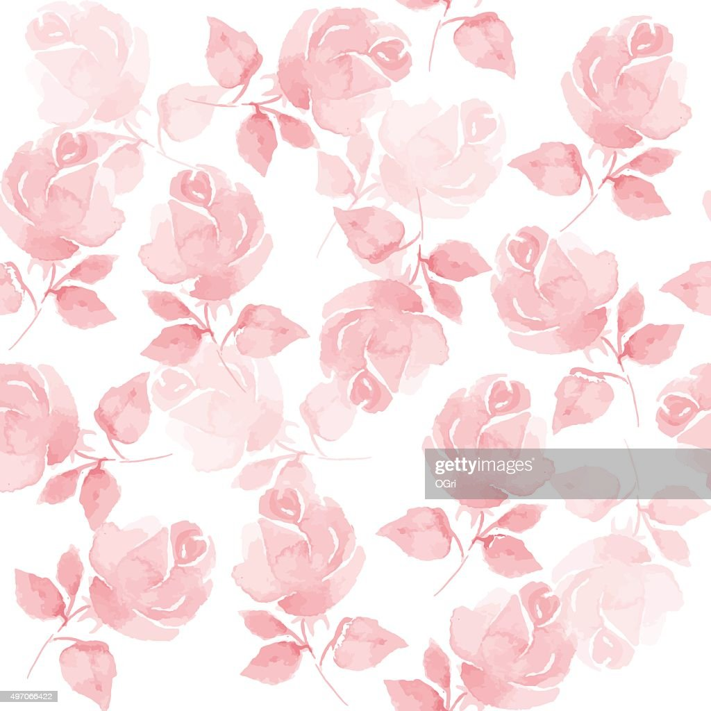 Background with beautiful roses. Seamless pattern