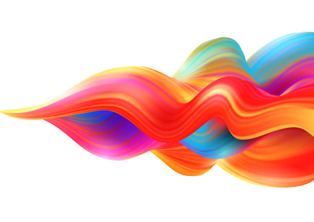 background with colored wave - swirl stock illustrations