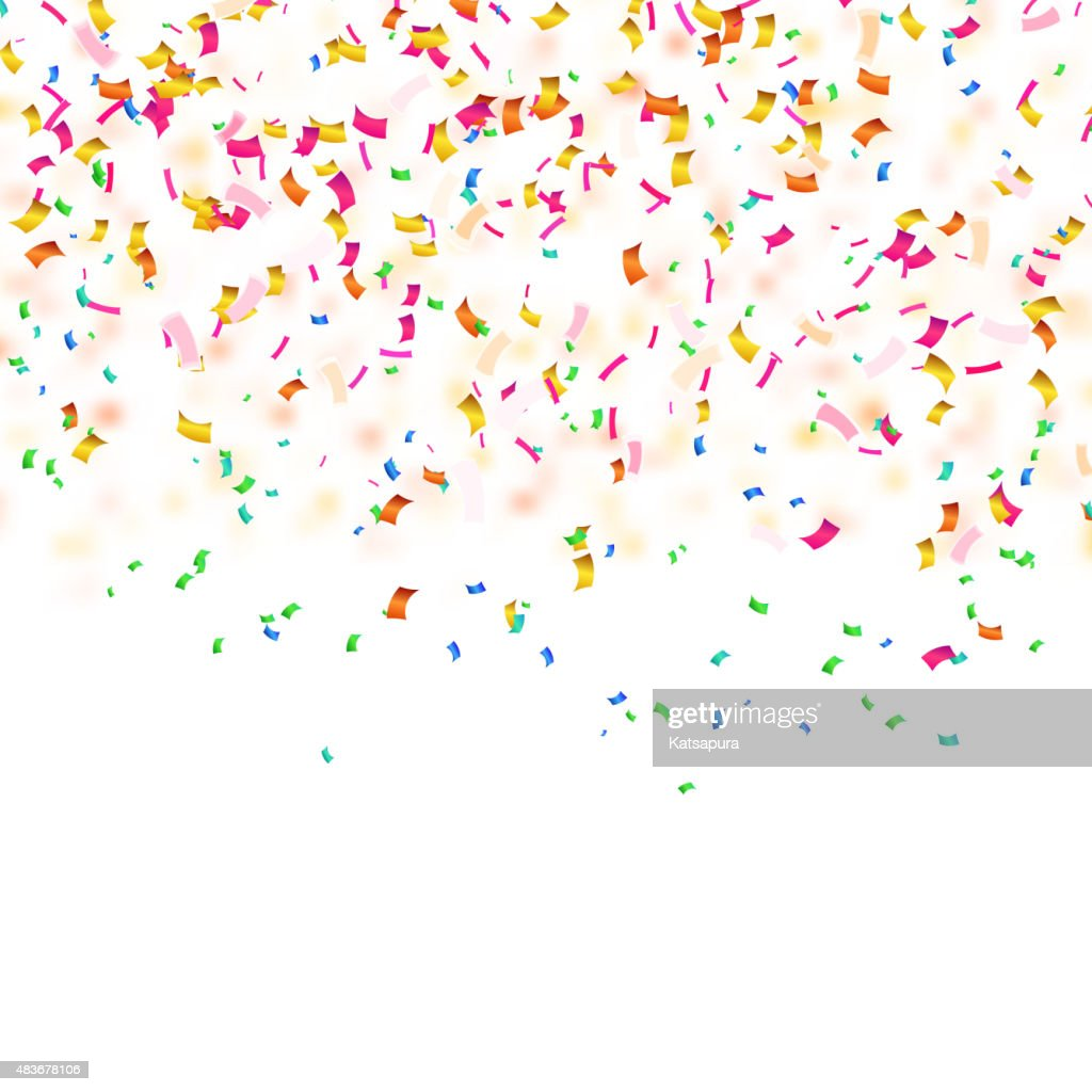 Background with confetti. Sample for your festive design. Vector