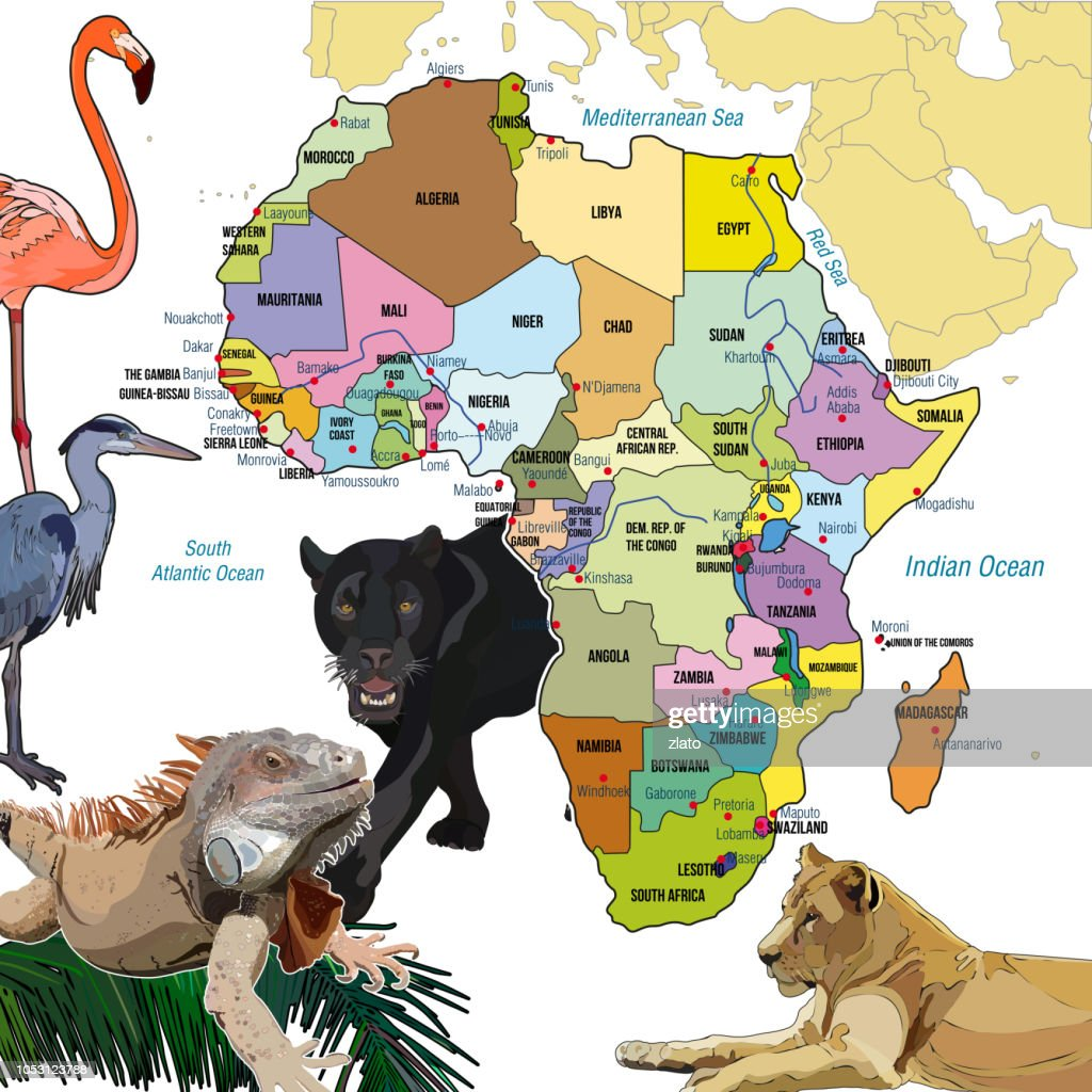 Background with continent of Africa