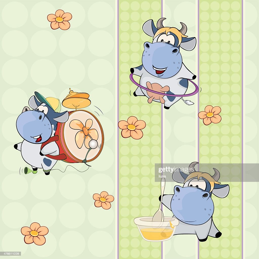 background with cows. seamless pattern