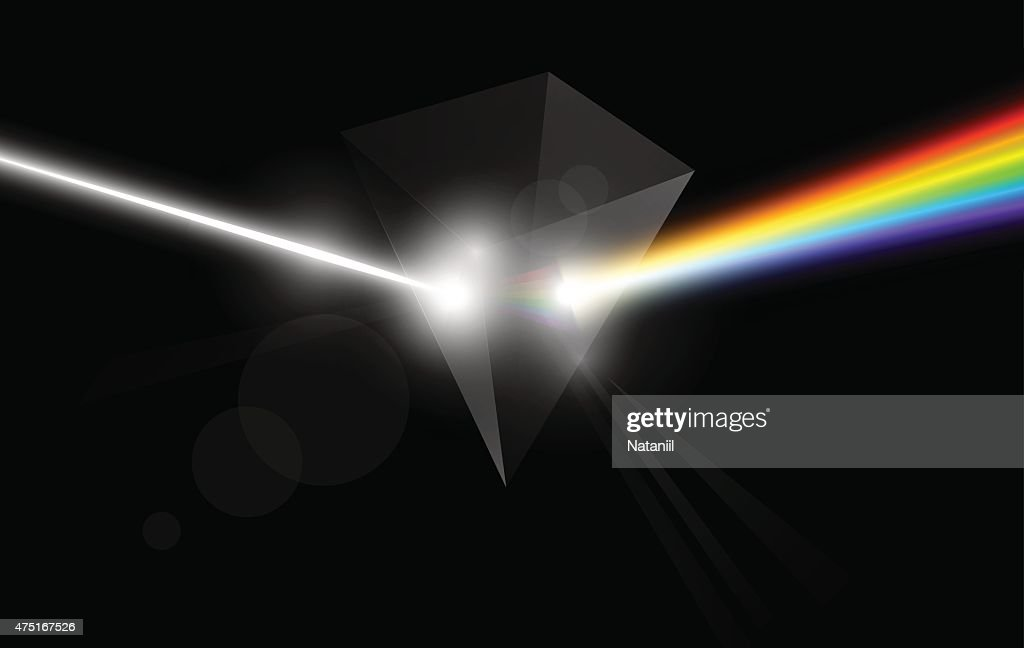 Background with dispersive prism : Vector Art