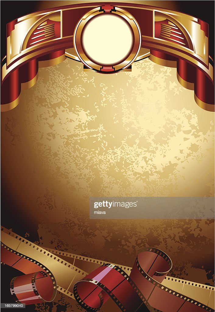 Background with films : stock illustration
