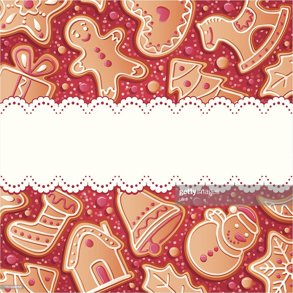 Background with gingerbreads : stock illustration
