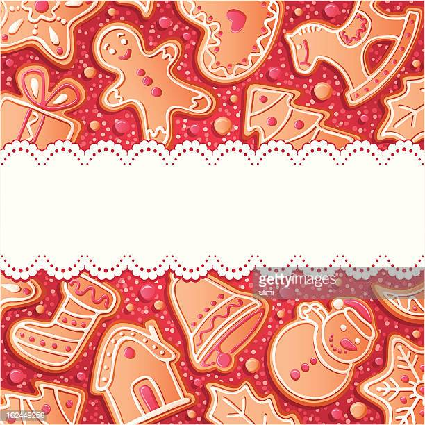 background with gingerbreads - baked stock illustrations, clip art, cartoons, & icons