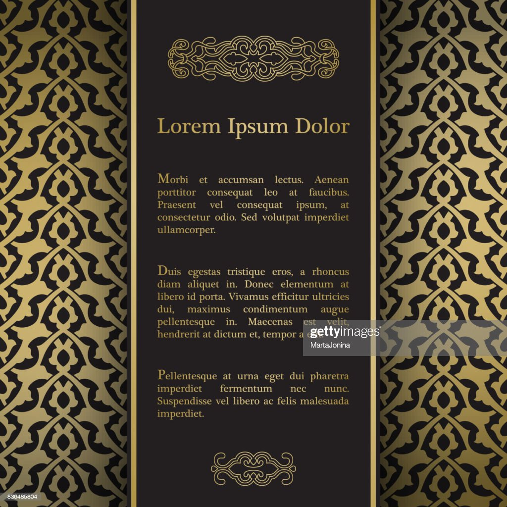 Background with gold floral ornament.