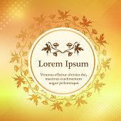 Background with larkspur floral ornament